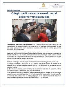 02 BOLETIN Colegio medico alcanza acuerdo con el gobierno y finaliza huelga 1